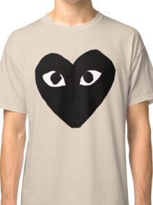 CDG Comme Des Garcons Play Love Heart BLACK Classic T-Shirt
