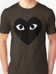 CDG Comme Des Garcons Play Love Heart BLACK Unisex T-Shirt