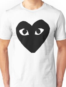 CDG Comme Des Garcons Play Love Heart BLACK Unisex T-Shirt