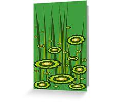 Alien Grass Greeting Card