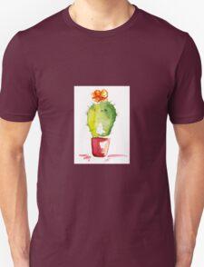 Desert Blooms Watercolour Illustration Unisex T-Shirt