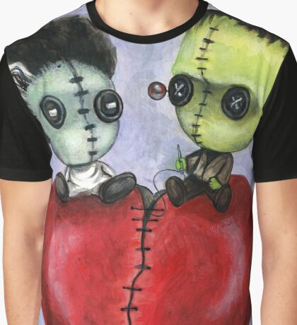 Bride and Franky Voodoo Dolls Graphic T-Shirt