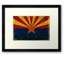 Arizona State Flag VINTAGE Framed Print