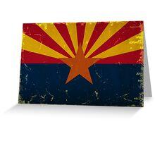 Arizona State Flag VINTAGE Greeting Card