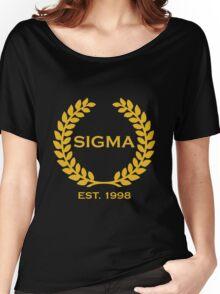 Sigma Alpha Epsilon Pi Olive Branch/Wreath Women's Relaxed Fit T-Shirt