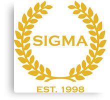 Sigma Alpha Epsilon Pi Olive Branch/Wreath Canvas Print