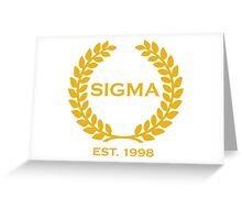 Sigma Alpha Epsilon Pi Olive Branch/Wreath Greeting Card
