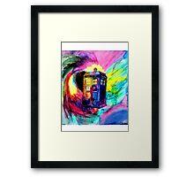 Watercolor TARDIS Framed Print