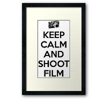 Keep calm and shoot film Framed Print