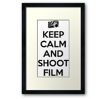 Keep calm and shoot film Framed Print