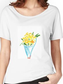 Paper Flowers Watercolour Illustration Women's Relaxed Fit T-Shirt