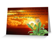 Dandelion In The Spring Greeting Card