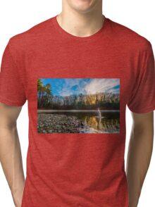 Skipping stones at Walden Pond. Tri-blend T-Shirt