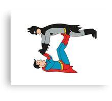 DC SUPER HEROES ( BATMAN VS SUPERMAN) Canvas Print