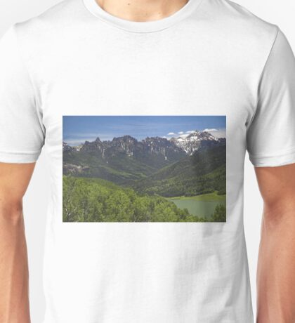 Silver Jack Reservoir and Turret Ridge Unisex T-Shirt