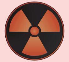 Orange Radioactive Symbol One Piece - Short Sleeve