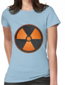 Orange Radioactive Symbol Womens Fitted T-Shirt