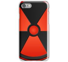 Red Radioactive Symbol Science iPhone Case/Skin