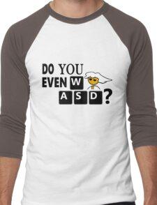 Steam PC Master Race Geek Do You Even WASD? Men's Baseball ¾ T-Shirt