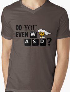 Steam PC Master Race Geek Do You Even WASD? Mens V-Neck T-Shirt