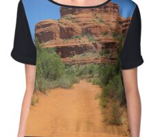 Path to Bell Rock, Arizona Chiffon Top