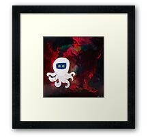 Octopus Lost in Space Framed Print