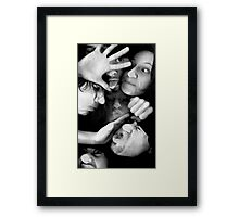 Splat BW Framed Print