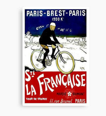 """TOUR DE FRANCE"" Vintage Bicycle Race Print Canvas Print"