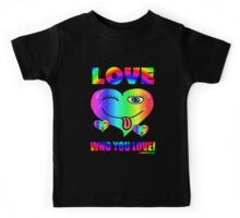 Love Who You Love Pride Is For Everyone Hipster Kids Tee
