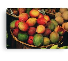 mango basket Canvas Print