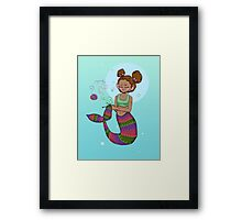 Fishes get stitches  Framed Print