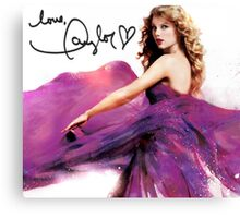 Taylor Swift Speak Now Signed Cover Canvas Print