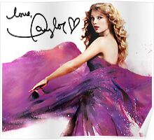 Taylor Swift Speak Now Signed Cover Poster