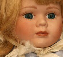 blond doll head Sticker