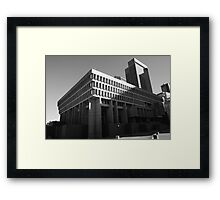 Brutalist Boston Framed Print
