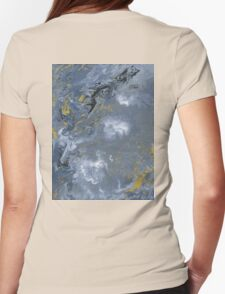 Clouded Flow - Acrylic Painting Art Womens Fitted T-Shirt