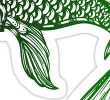 Green Coy Fish Sticker Sticker