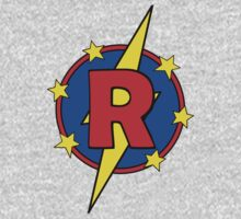 My Cute Little Super Hero - Letter R One Piece - Long Sleeve
