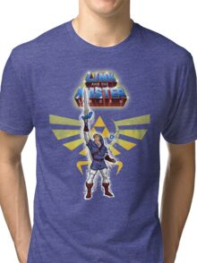 Link and the Master Sword Tri-blend T-Shirt