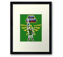 Link and the Master Sword Framed Print