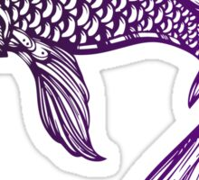 Purple Coy Fish Sticker Sticker