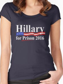 Hillary for Prison 4 Women's Fitted Scoop T-Shirt