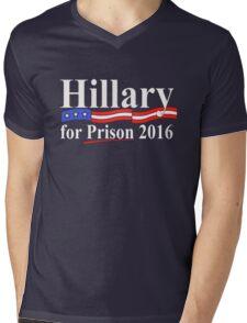 Hillary for Prison 4 Mens V-Neck T-Shirt