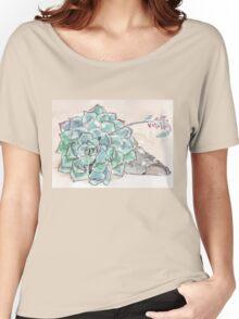 Echeveria imbricata  Women's Relaxed Fit T-Shirt