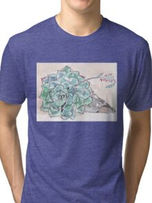 Echeveria imbricata  Tri-blend T-Shirt