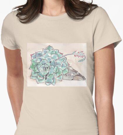 Echeveria imbricata  Womens Fitted T-Shirt
