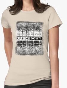 Stranger Things - Upside Down Design Womens Fitted T-Shirt