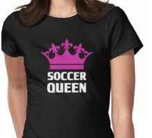 Soccer Queen Funny Womens Fitted T-Shirt