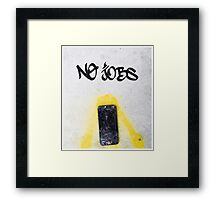 No Jobs Framed Print
