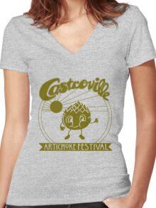The Original CASTROVILLE ARTICHOKE FESTIVAL shirt - Dustin's shirt in Stranger Things!! Women's Fitted V-Neck T-Shirt